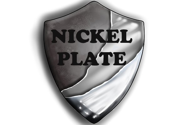 Nickel plated shield