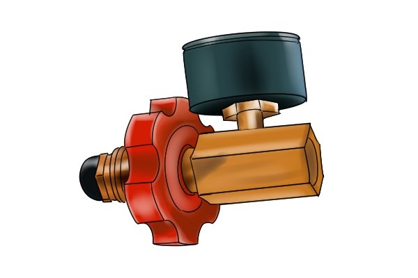 POL regulator adaptor with pressure gauge