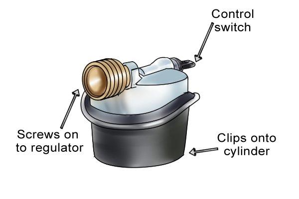 Silver adaptor for Jumbo clip-on regulator