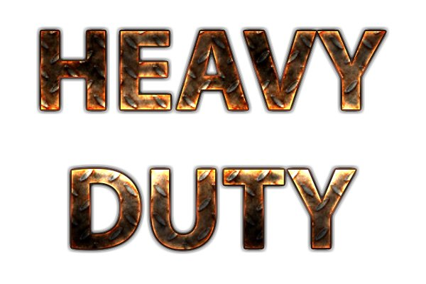 Sign saying heavy duty