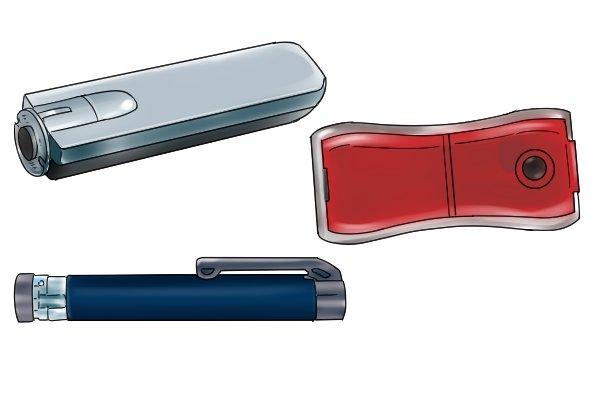 Three different ultrasonic gas level indicators