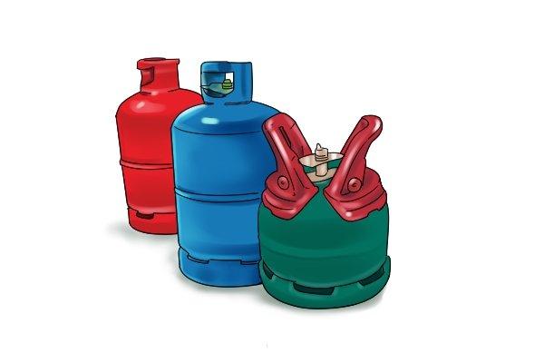 Propane, butane and patio gas cylinders