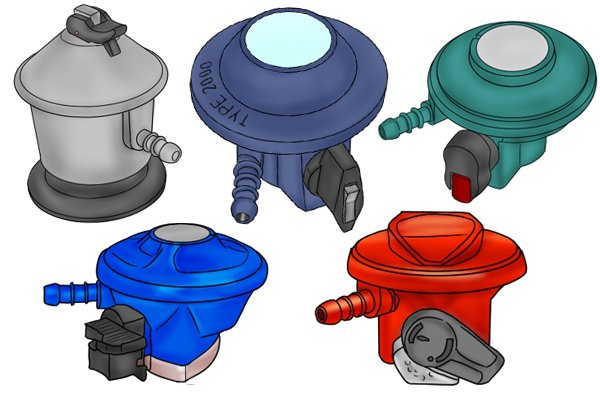 Five types of clip-on regulators