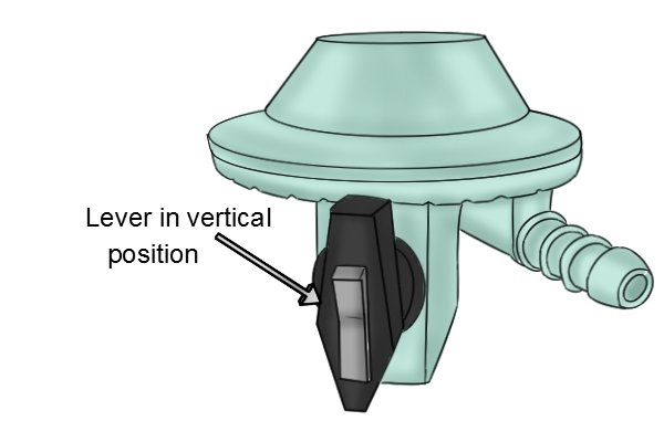 Vertical Lever Press : How to fit a clip on gas regulator