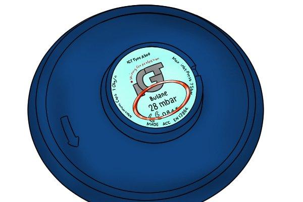 Bolt-on gas regulator showing outlet pressure