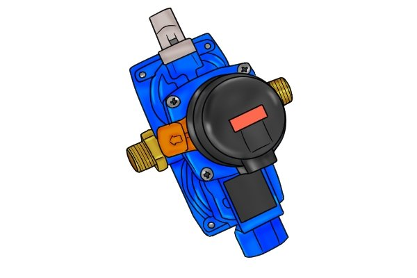 Red automatic changeover regulator