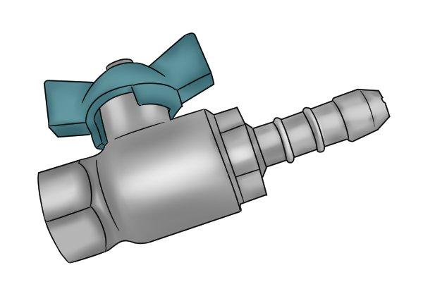 Close-up of regulator UPSO valve