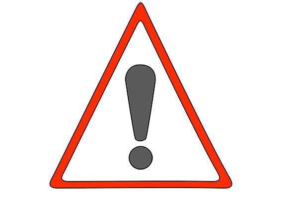 Warning sign - red triangle with exclamation mark