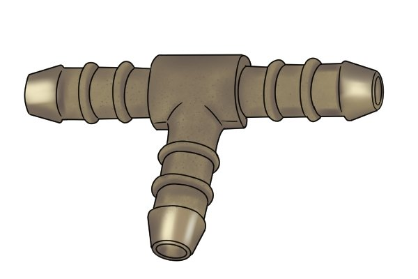 Gas hose T connector