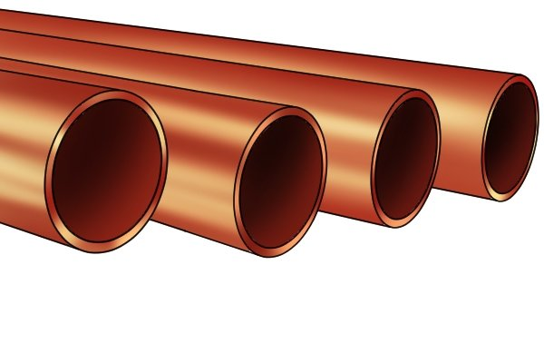 What are some commonly used plumbing copper pipe sizes?