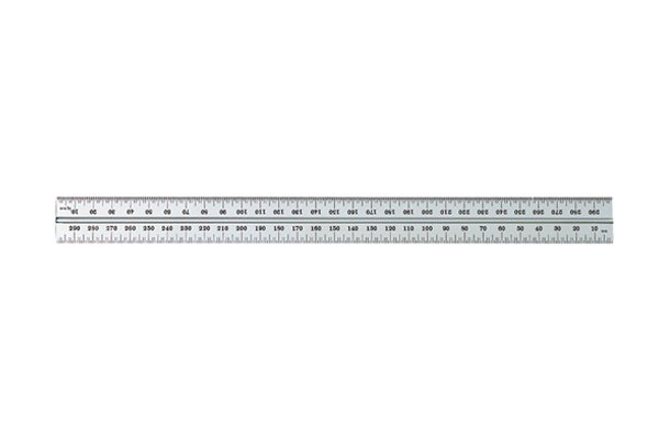 The groove on a Starrett rule; combination square set, rule, ruler, blade