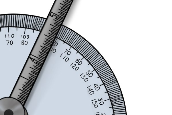 The angle can be taken from the protractor; protractor and depth gauge, rule, ruler, blade