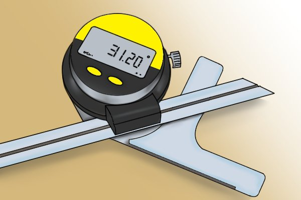 The display of a digital protractor
