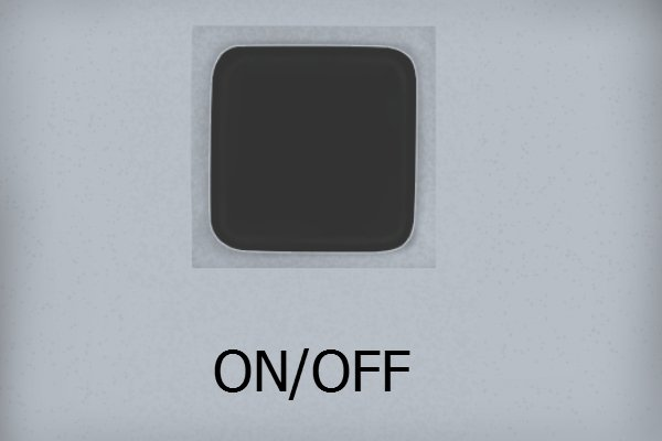 The on/off button; digital protractor, digital angle gauge