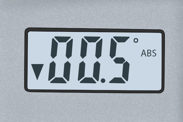 The LCD (Liquid Crystal Display); digital protractor, digital angle gauge