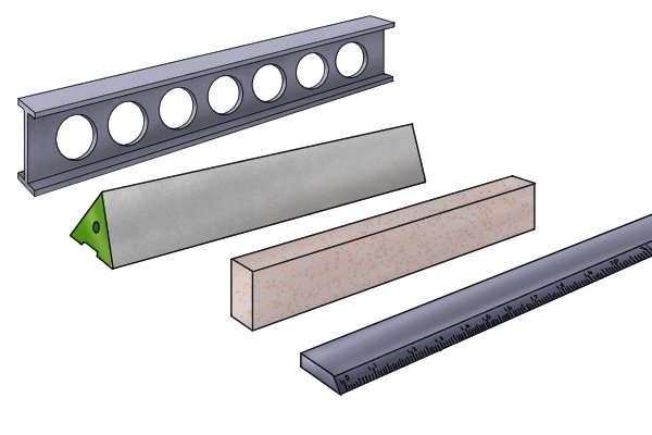 Selection of different engineers' straight edges