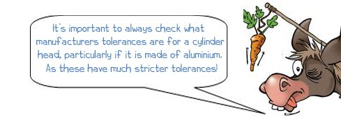 It's important to always check what manufacturers tolerances are for a cylinder head, particularly if it is made of aluminium. As these have much stricter tolerances!
