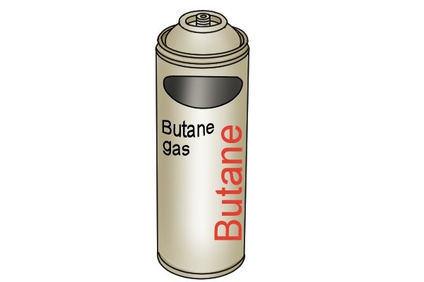 Butane gas cartridge for a blow lamp