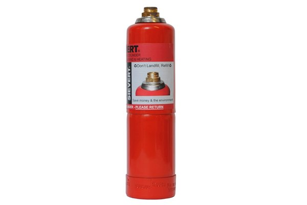 Propane gas cylinder for a blow torch