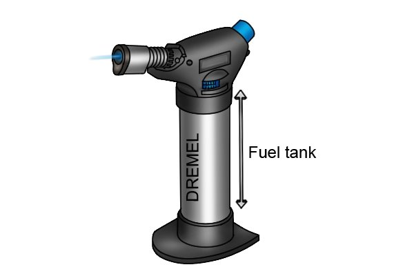 Refillable standard blow lamp fuel tank