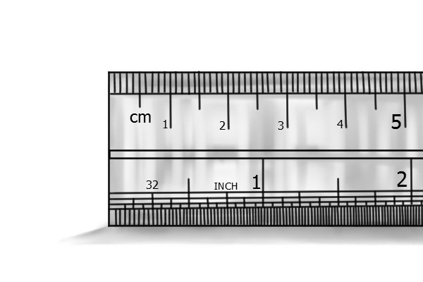 Image showing a ruler with both imperial (inches) and metric (mm) measurements marked