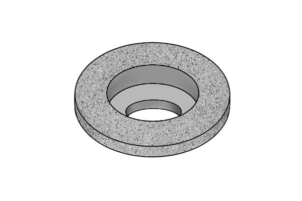 Image showing a 100 grit grinding wheel