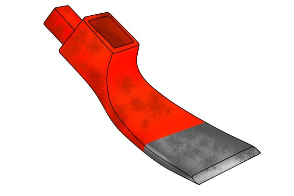 Image of a flat adze blade, used for smoothing wood