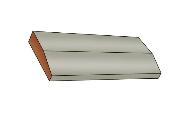 Image illustrating what a bevelled edge looks like