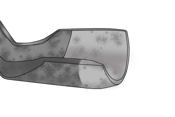 Image showing an adze blade with an outside bevel