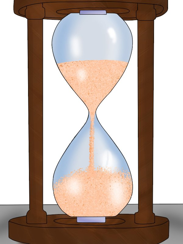 Image of an hourglass to illustrate the life of a tool
