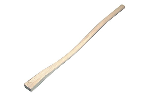 Image of a replacement hickory adze handle