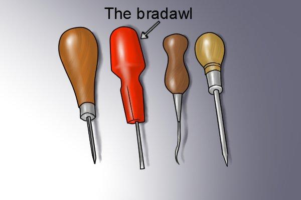 selection of awls including bradawl