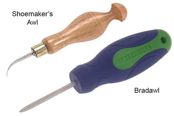 shoemaker's awl and bradawl
