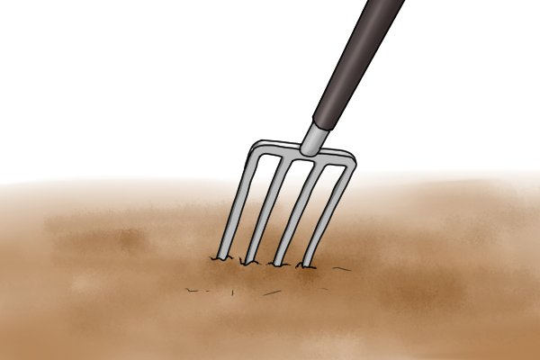 Digging with a fork