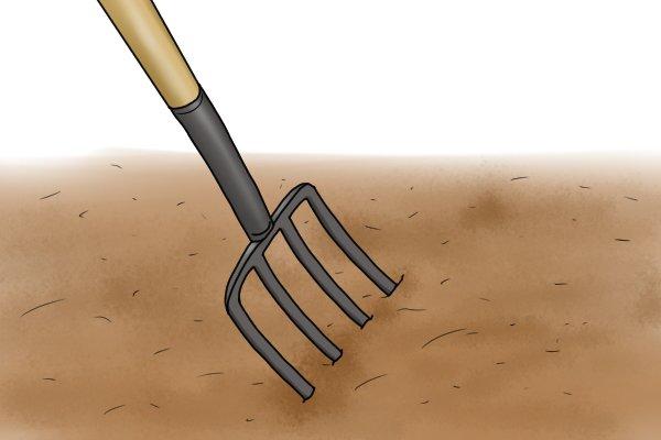 Digging fork in use