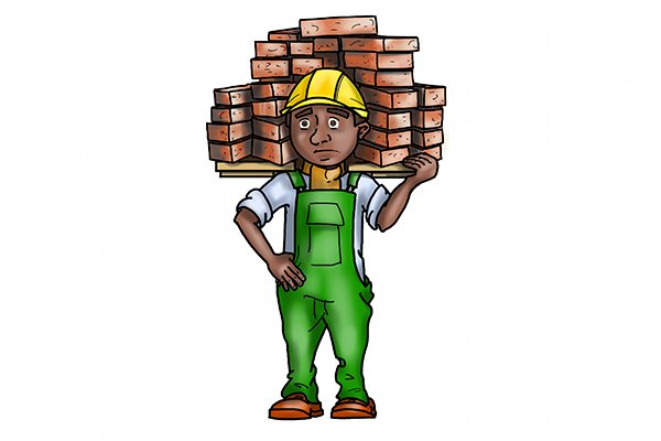 What is a brick hod?
