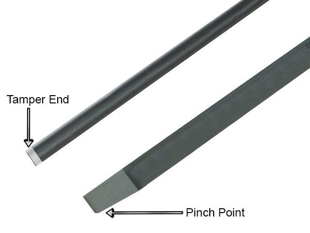 Pinch point crowbar - tamper end, pinch point