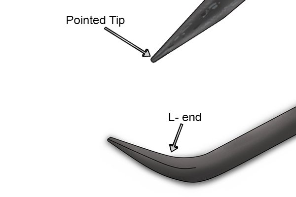 Warehouse Bar - L-end, Pointed Tip