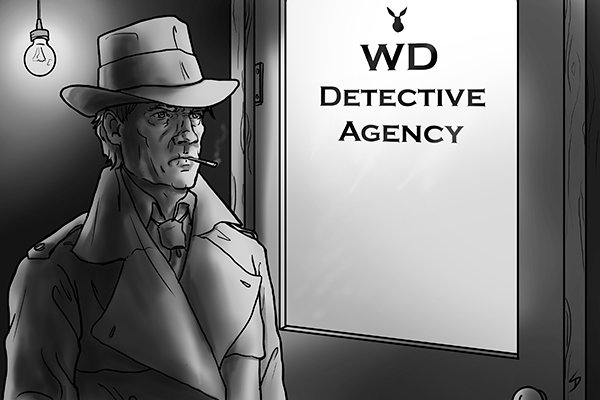 Image of a detective looking for problems with his circulator pump