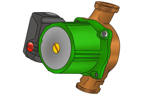 Image of a brand of pump that has two retaining bolts rather than four