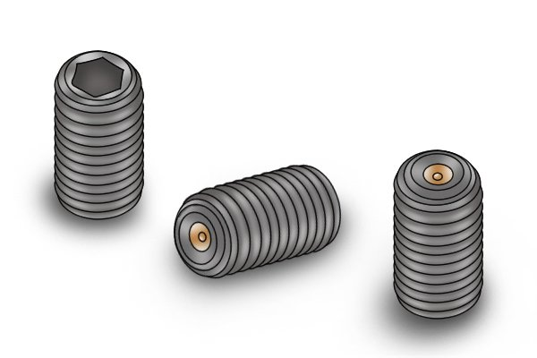Image showing how grub screws look different to normal screws