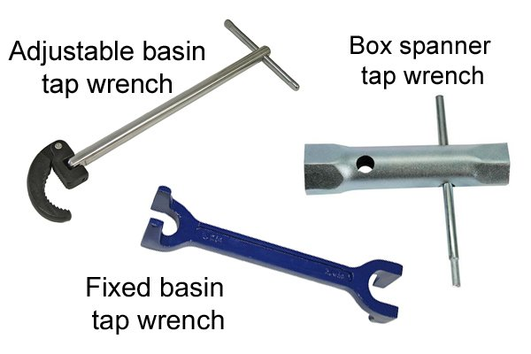 Basin tap wrenches, different types of basin wrench
