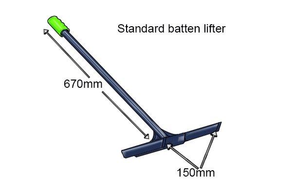 Dimension of a standard batten lifter