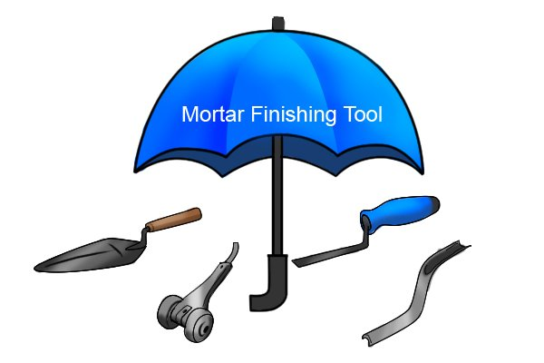 Mortar Finishing Tool Umbrella
