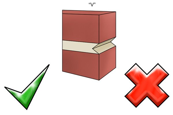 Advantages and disadvantages of V mortar joints