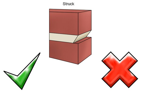 Advantages and disadvantages of a struck mortar joint