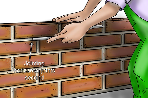 Jointing horizontal joints second