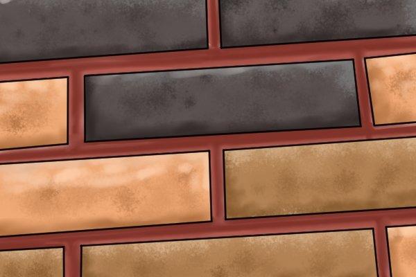 Concave joint brickwork