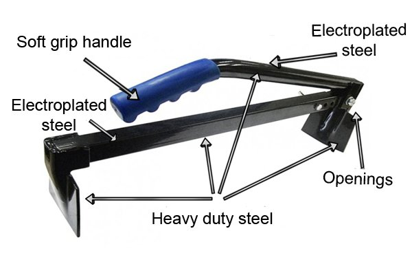 Brick tongs are made from heavy duty steel designed and built for strength and durability.