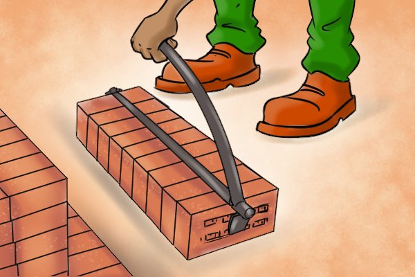 To place bricks down, lay them on an even surface and release the handle which will release the clamp.